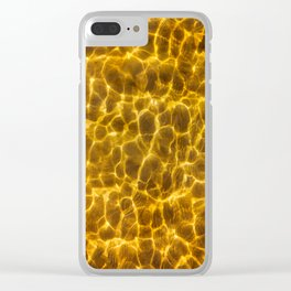 Seafloor with reflecting light Clear iPhone Case