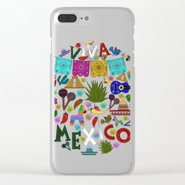Doodle viva Mexico Clear iPhone Case