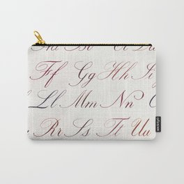 Hand Written Copperplate Alphabet Carry-All Pouch