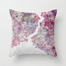 Istanbul Map Throw Pillow