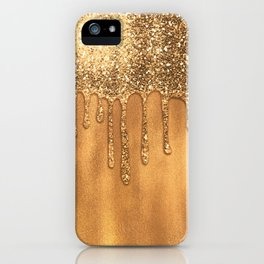 Dripping in Gold Honey Glitter iPhone Case