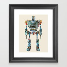 modern iron giant Framed Art Print