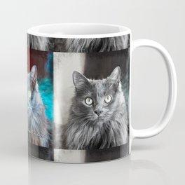 Fluffy grey cat close-up | You had me at meow Coffee Mug