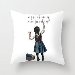 Banksy Stop Dreaming Throw Pillow