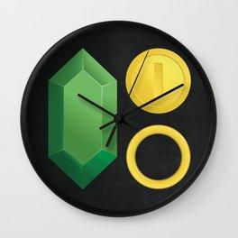 Video Game Money - Zelda, Mario, Sonic Wall Clock