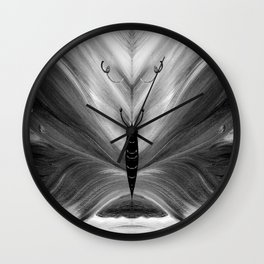 Butterfly black and white Wall Clock