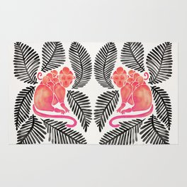 Monkey Cuddles – Pink & Black Palette Rug