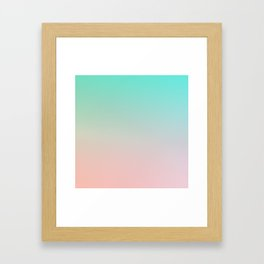 HEAVY RAINS - Minimal Plain Soft Mood Color Blend Prints Framed Art Print