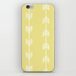 Running Arrows in White and Yellow iPhone Skin