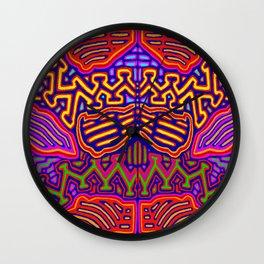 Peyote Butterfly Wall Clock