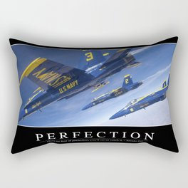 Perfection: Inspirational Quote and Motivational Poster Rectangular Pillow