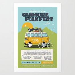 38. Canmore Folk Music Festival (2015) Art Print