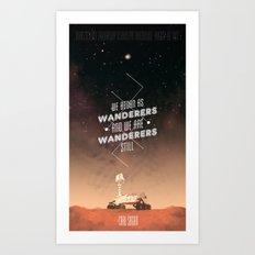 Wanderers - MSL/Curiosity Commemoration Print Art Print
