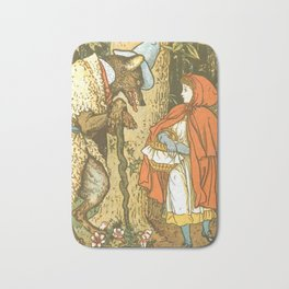 Vintage Little Red Riding Hood Illustration (1915) Bath Mat