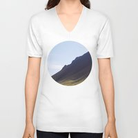 iceland V-neck T-shirts featuring Obliquo, Iceland by Mara Brioni Art Photography