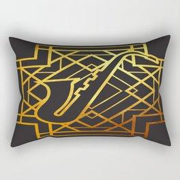 Art Deco Saxofon Rectangular Pillow