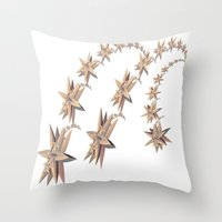 constellation Throw Pillows featuring constellation by Tanja Riedel