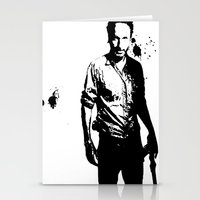 rick grimes Stationery Cards featuring Rick Grimes by Black And White Store