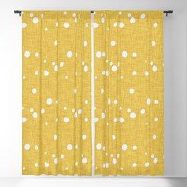 Modern Farm House Polka Dots Mustard Blackout Curtain