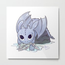 Toothless - How to Train Your Dragon (transparent background)  Metal Print