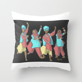 Bhangra 2020 Throw Pillow