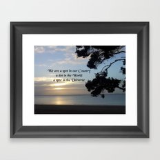 Nature Photo Universe Quote by Kat Worth Framed Art Print
