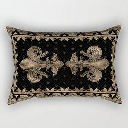 Fleur-de-lis - Black and Gold #1 Rectangular Pillow