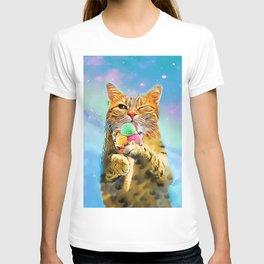 Cat with ice cream T-shirt
