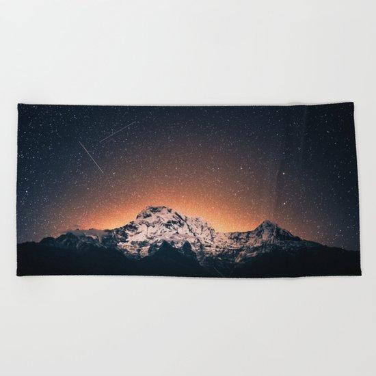 Magical Mountain #galaxy #photography Beach Towel