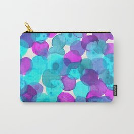 Watercolor Circles - Bright Turquoise and Purple Palette Carry-All Pouch