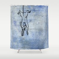 rat Shower Curtains featuring Rat by Michael Shepherd