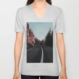 Road Red Mountain Unisex V-Neck