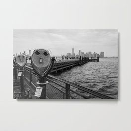 View from Liberty Island - New York Metal Print