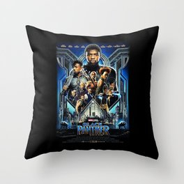 Black Panther movie Poster Throw Pillow
