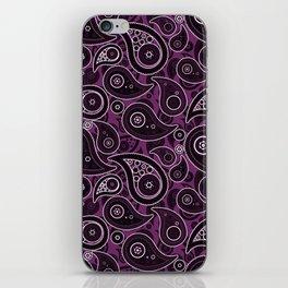 Byzantium Purple Paisley Pattern iPhone Skin