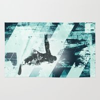 snowboarding Area & Throw Rugs featuring x-treme boarding by JG-DESIGN