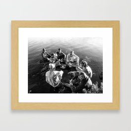 Friends in the Boundary Waters Framed Art Print
