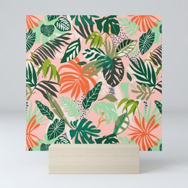 Simple drawing of abstract jungle 2 Mini Art Print