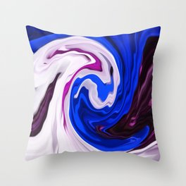 Painted Silk Throw Pillow