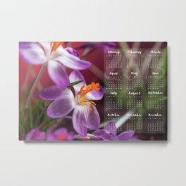 Calendar 2016 Metal Print