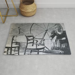 Antique candle making Rug