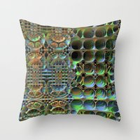 honeycomb Throw Pillows featuring Honeycomb by Lyle Hatch