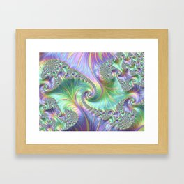 Fantastic factual fractal Framed Art Print