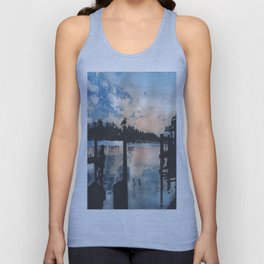 Sunset at the Boat Dock Unisex Tank Top
