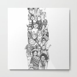 people...people everywhere Metal Print
