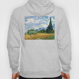 Wheat Field with Cypresses by Vincent van Gogh Hoody