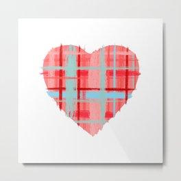 Love, Plaid Metal Print