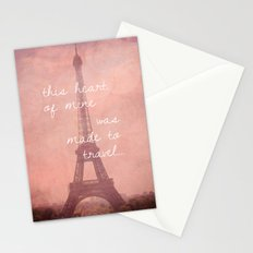 This Heart Was Made to Travel Stationery Cards