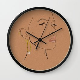 Winged Lines Wall Clock
