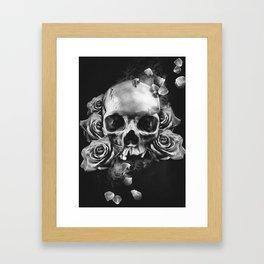SKULL & ROSES II Framed Art Print